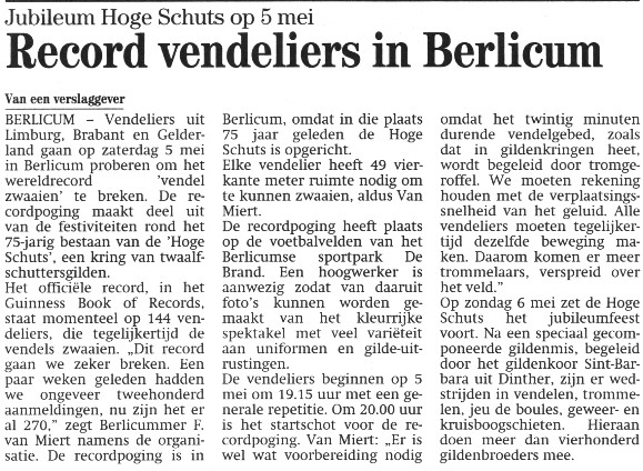 Brabants Dagblad april 2001